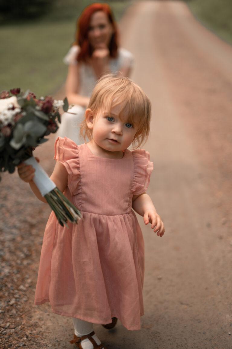 bröllopsfotografering med barn