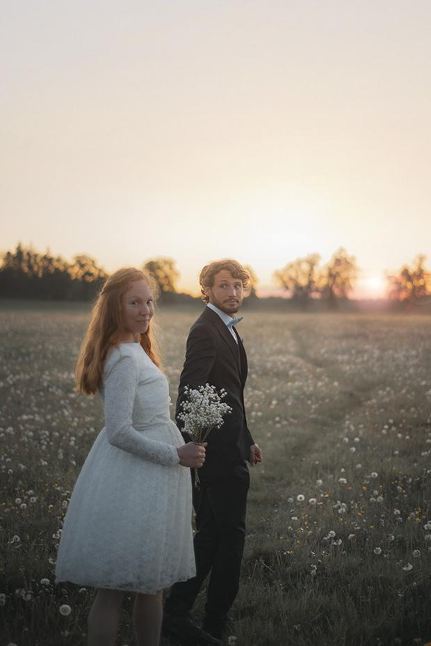 bröllopsfotografering soluppgång