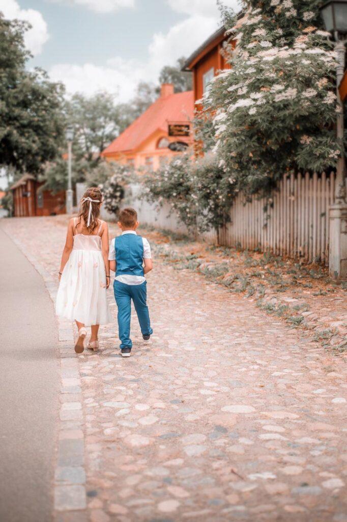 bröllopsfotografering marskalk och tärna