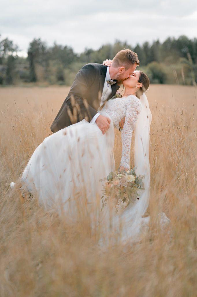 bröllopsfotografering porträtt